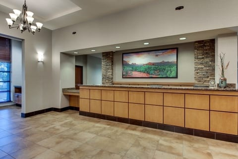 Professional Hotel photography of Drury Hotels front desk