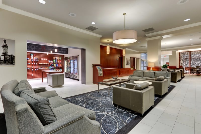 Hilton approved hotel photography for doubletree stl forest park Lobby 03